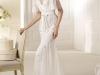 Осенние свадебные платья 2012 с V-образным вырезом