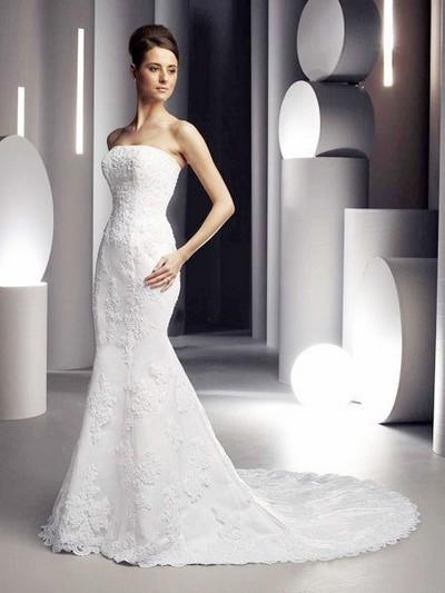 Свадебное платье в обтяжку фото