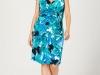 Синее трикотажное платье для полных
