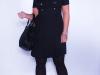 Короткое трикотажное платье-туника для полных