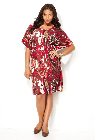 модные платья-туники для полных.