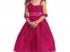 Вечернее платье для девочки ярко розовое