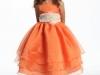 Оранжевое платье для девочки нарядное