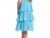 Голубое платье для девочки с воланами