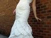 Белое платье-русалка
