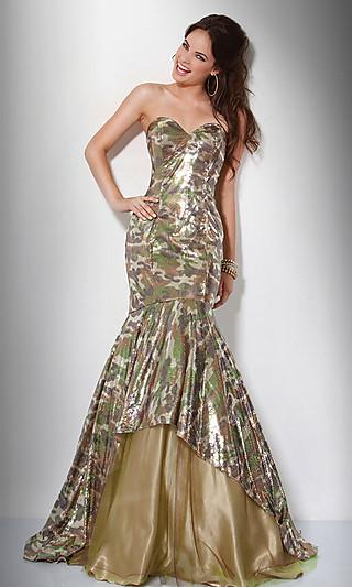 Вечерние платья в форме русалки