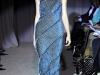 Синее вязаное платье фото