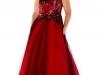 Красное платье на выпускной 2013 для полных