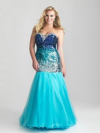 Фото голубое платье на выпускной