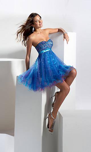 Короткие выпускные платья 2011 без бретелек