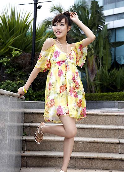 Летние шифоновые платья 2011