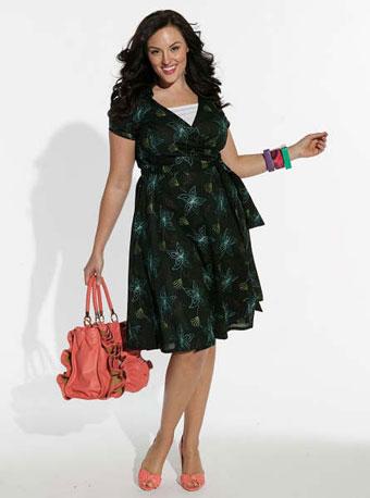 Летнее платье для фигуры яблоко