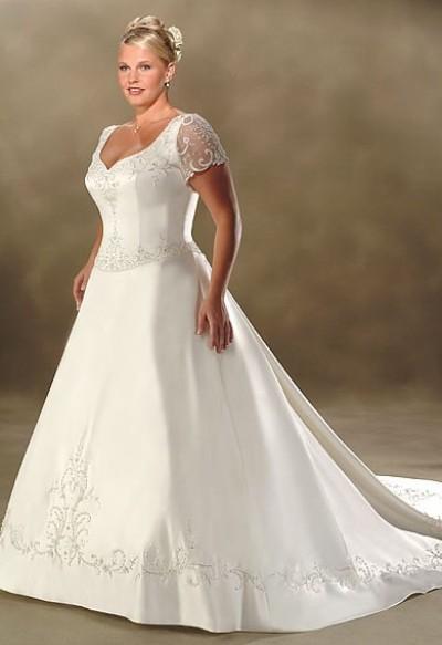 Длинные свадебные платья для полных