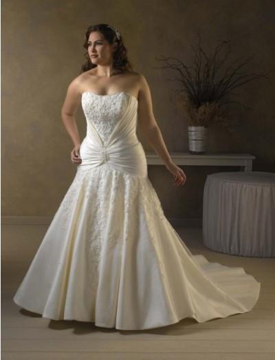 Длинные платья для полных вечерние свадебные