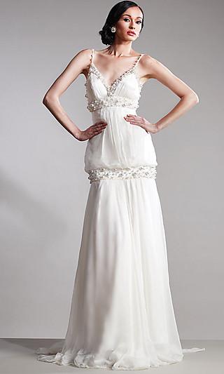Прическа под белое вечернее платье
