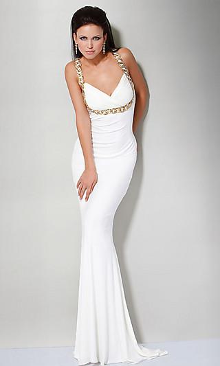 Модное вечернее белое платье 2011 для