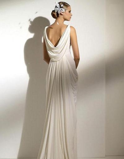 Свадебная прическа к греческому платью
