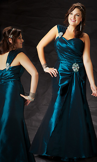 Вечернее платье на одно плечо