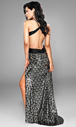 Фото со спины вечернее платье