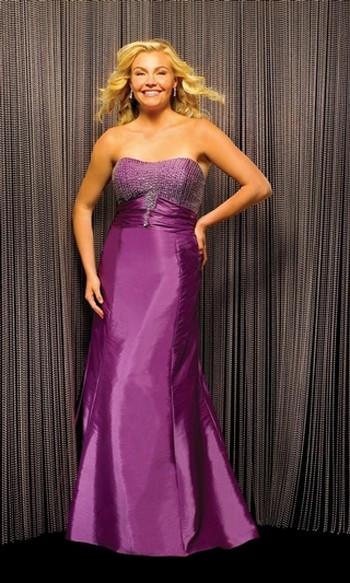 Модные вечерние платья 2011 для полных