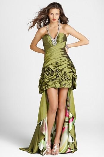 Платье на выпускной короткие со шлейфом