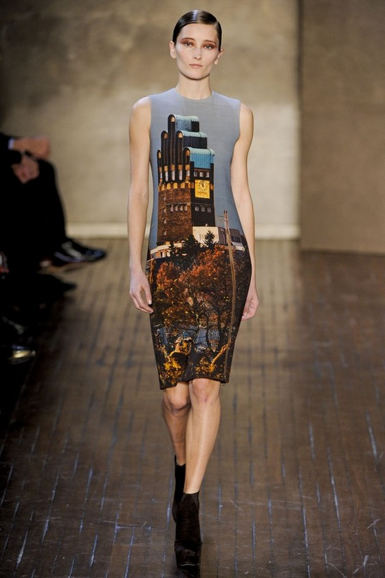 Платье с принтом от Akris