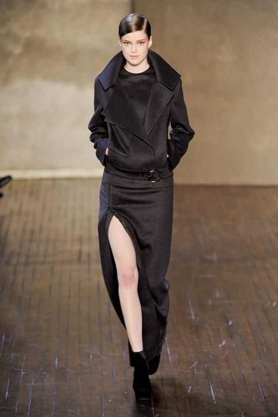 Длинное платье с коротким пальто, осень-зима 2011-2012