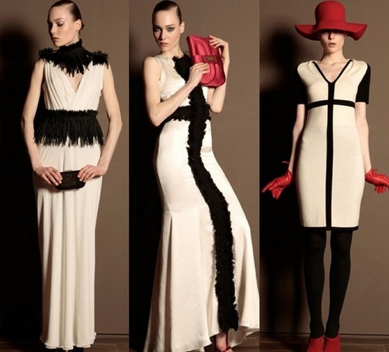 Бежевые платья Trussardi 2011-2012