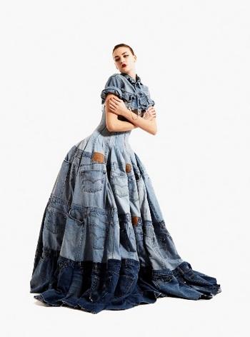 Джинсовое длинное платье Gary Harvey