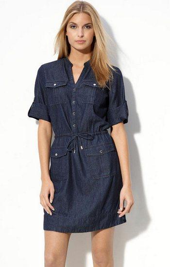 Платье сафари джинсовое