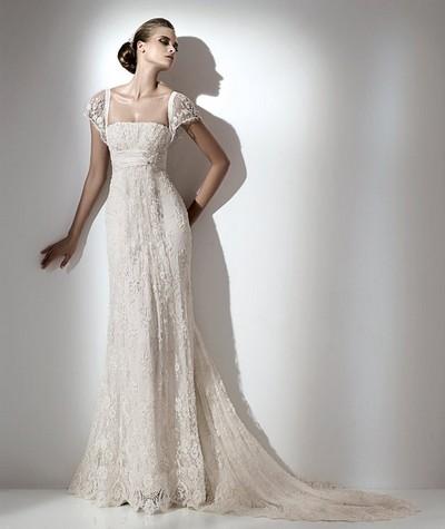 Греческое свадебное платье Elie Saab из кружева
