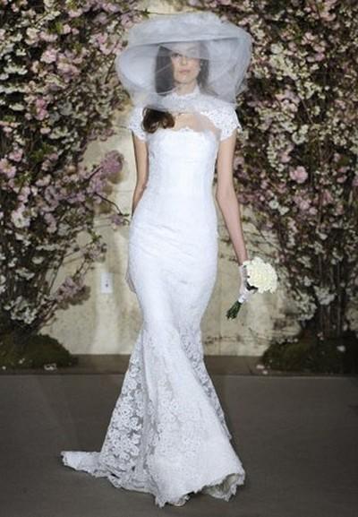 Кружевное свадебное платье Oscar de la Renta