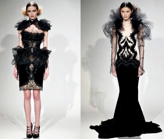 Marchesa платья Осень-Зима 2011-2012