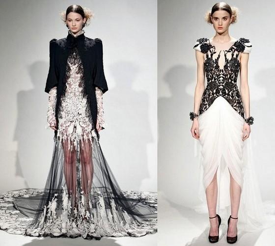 Marchesa вечерние платья Осень-Зима 2011-2012