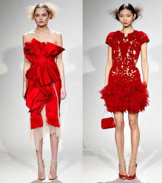 Укороченые красные платья для полных