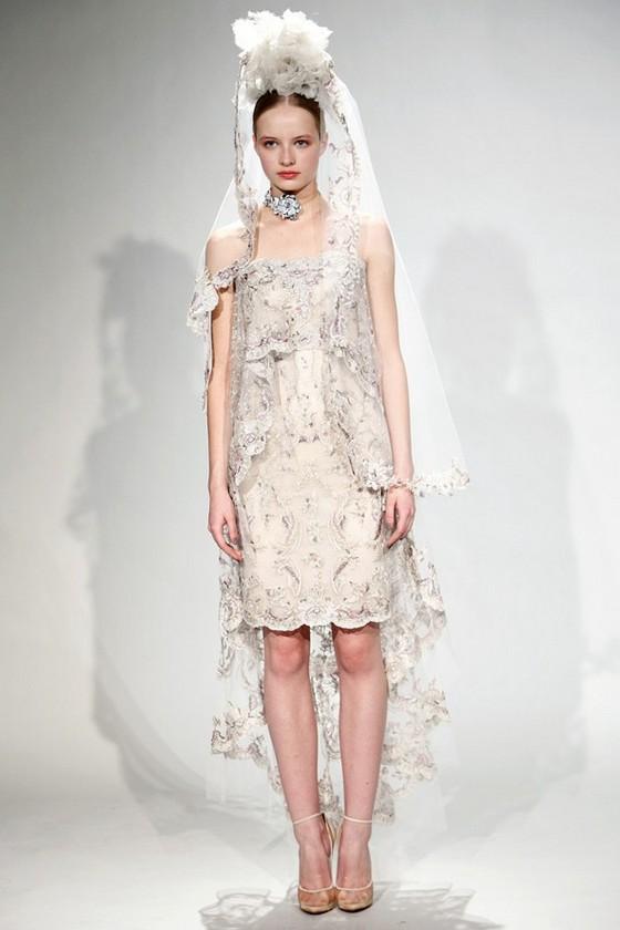 Свадебное платье Marchesa Осень-Зима 2011-2012