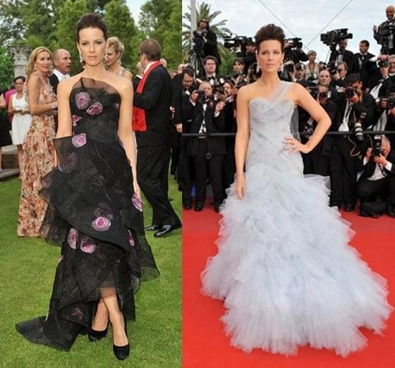 Кейт Бекинсэйл в платьях от модного дома Маркиза