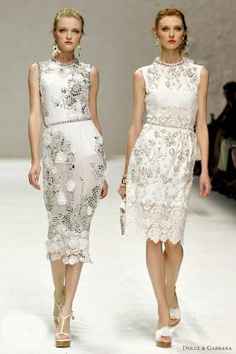 Кружевные платья 2011 - Dolce&Gabbana