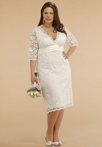 Платья невесты для полных