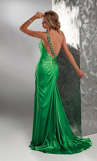 Вечерние платья годе с вырезом на спине