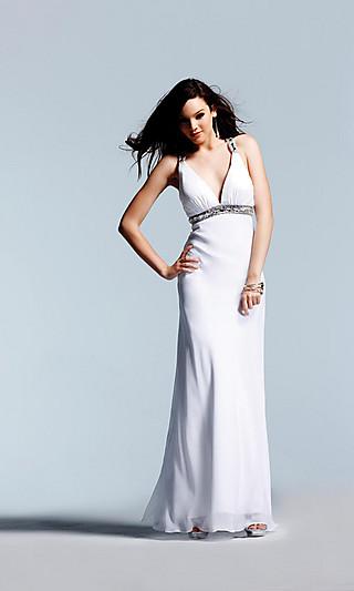 Белые шелковые платья