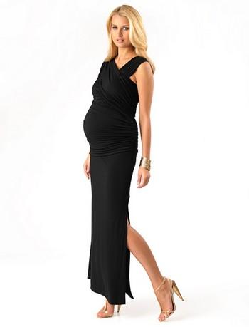 Длинное вечернее платье для беременных