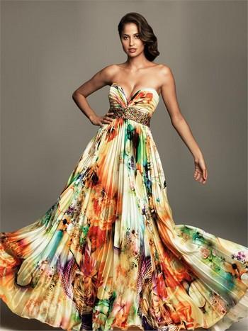 вечернии платья в пол