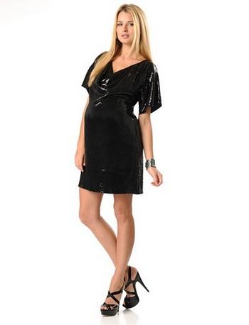 Короткое вечернее платье для беременных