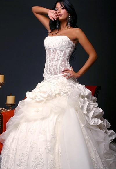 Свадебные платья с прозрачным корсетом