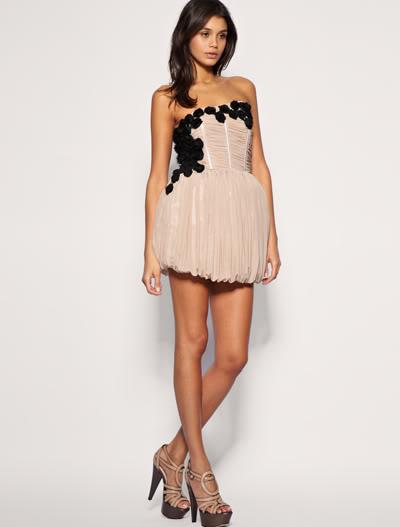Вечернее платье с корсетом короткое