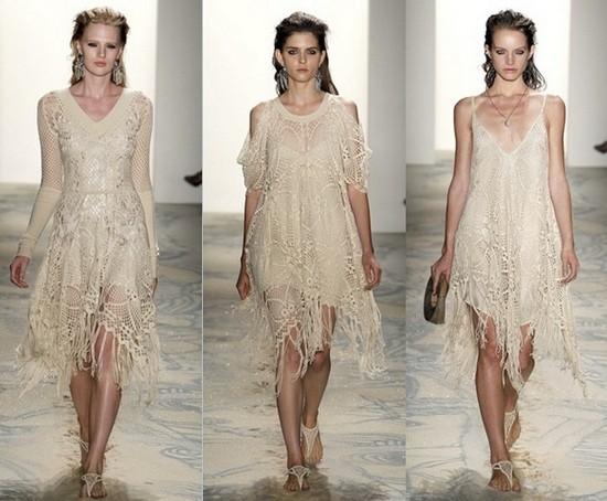 Вязаные летние платья 2011 Jen Kao