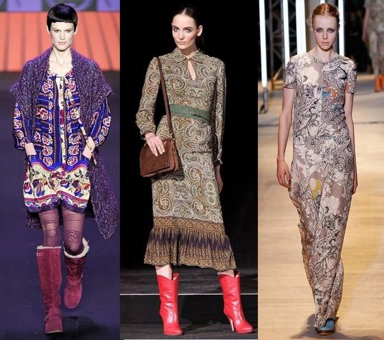Богемный стиль одежды - платья от Anna Sui, Paul & Joe, Cacharel