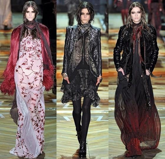 Платья Roberto Cavalli коллекции Осень-Зима 2011-2012