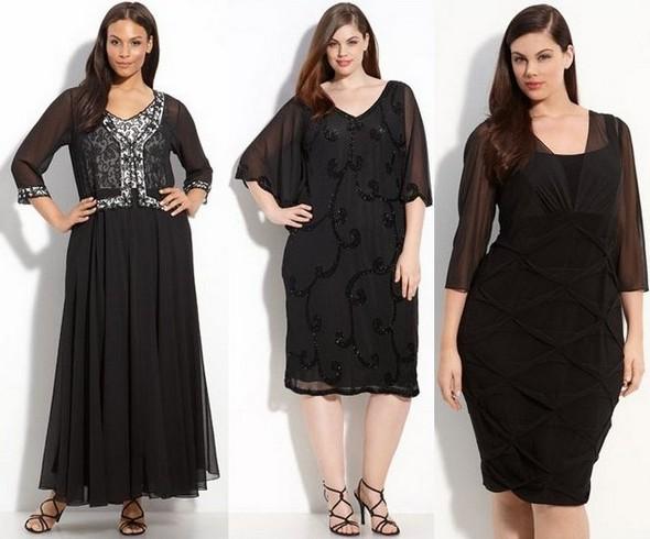 Черные платья для полных фото